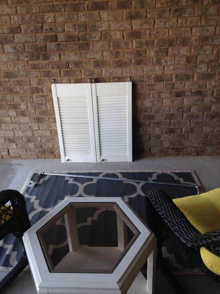 Shutters and pipe for tv cover