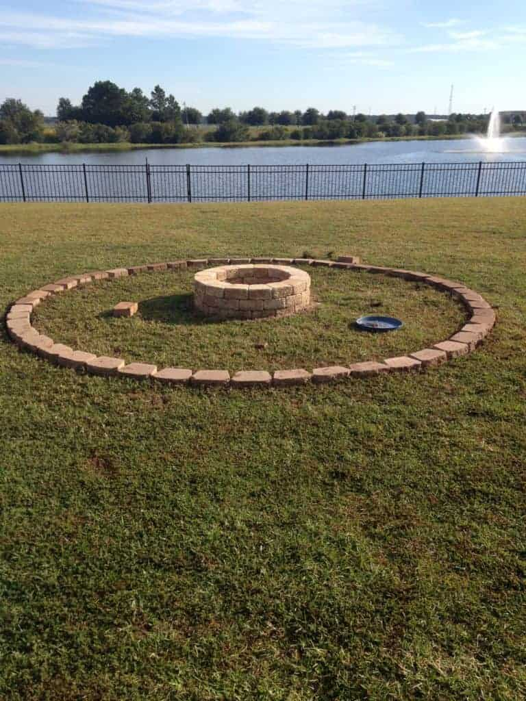 DIY Fire pit makeover before