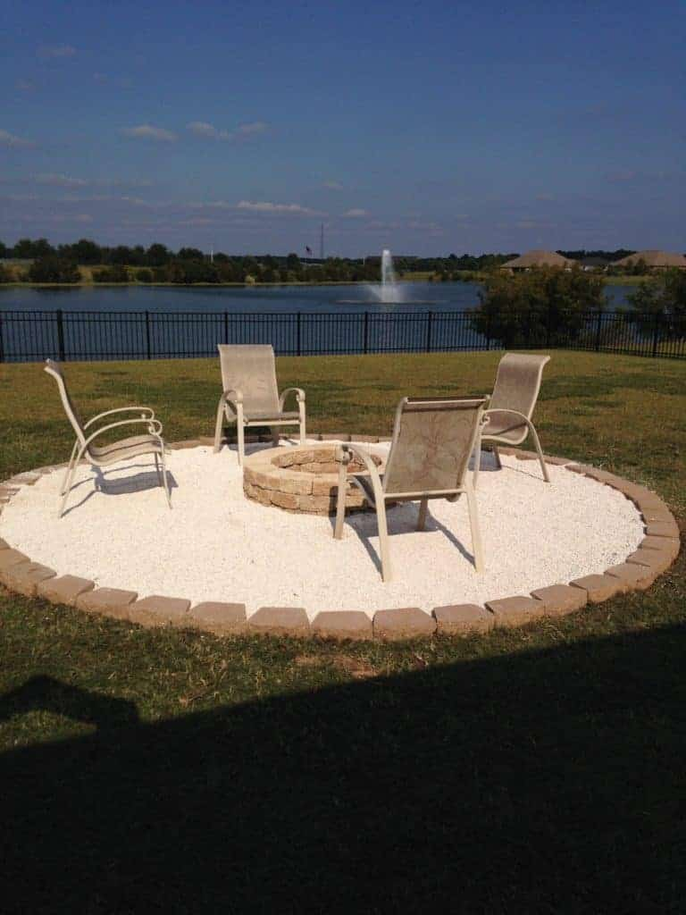 DIY Fire Pit with pea gravel