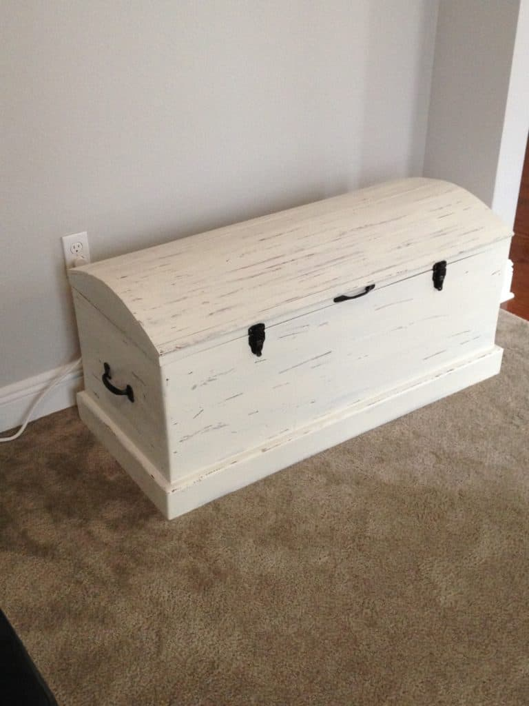 Milk Painted Treasure Chest
