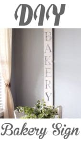 DIY vintage Bakery SIgn
