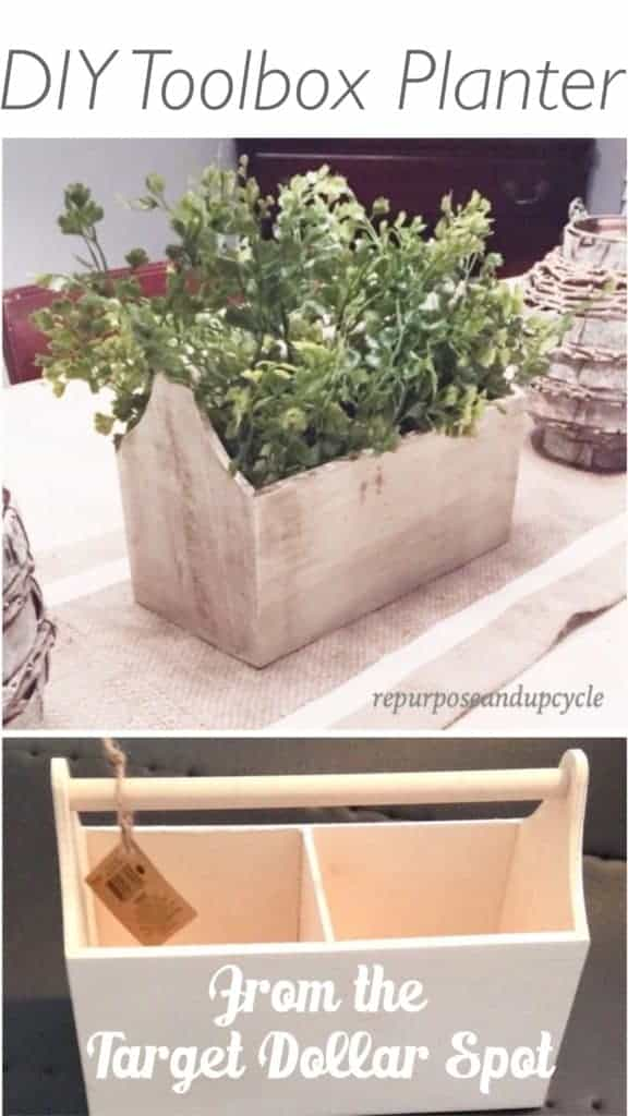 DIY Toolbox planter from the target dollar spot