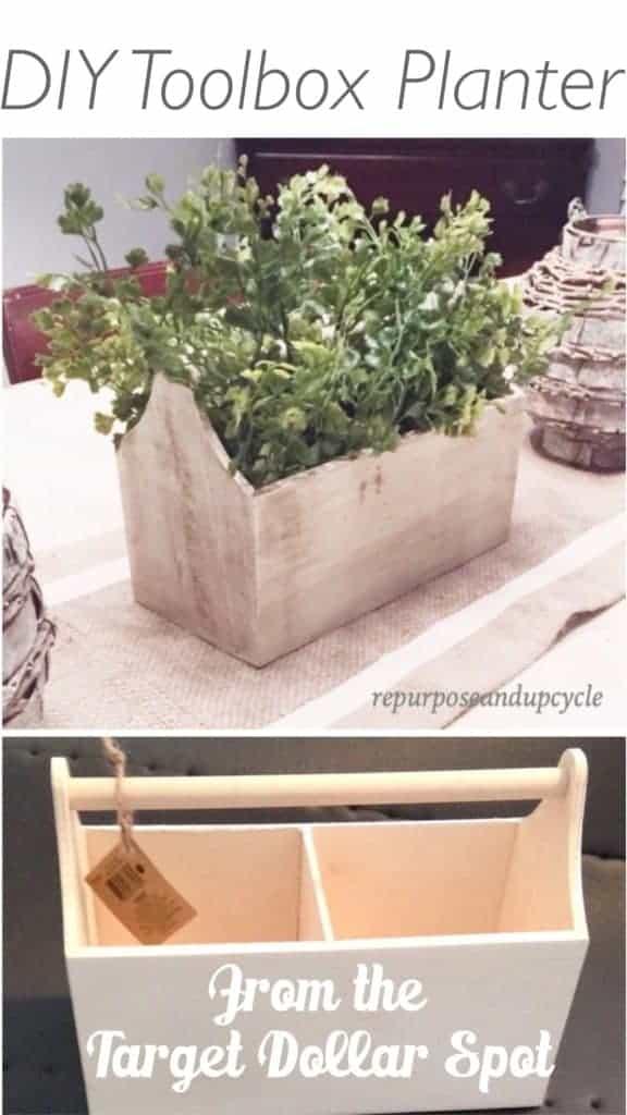 DIY Toolbox planter from the target dollar spot