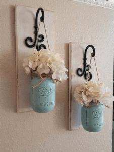 Hanging Mason Jar art