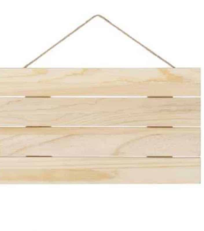 10%22 x 18%22 Natural Slatted Wood Pallet Sign with Jute Rope | Hobby Lobby | 80665516