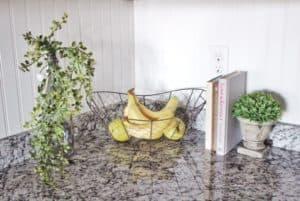 modern farmhouse kitchen with bead board back splash