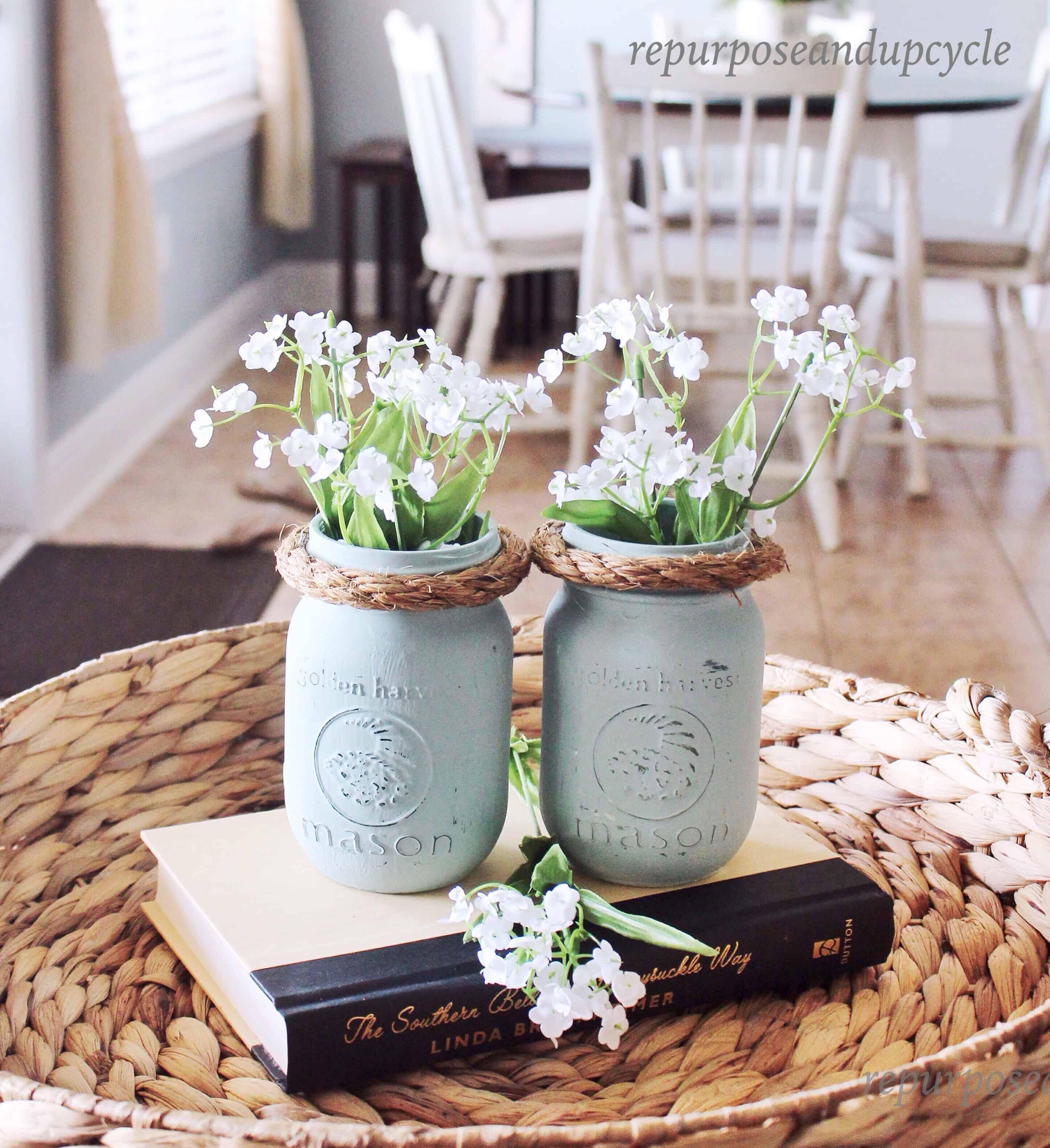 easy mason jar decor. Black Bedroom Furniture Sets. Home Design Ideas