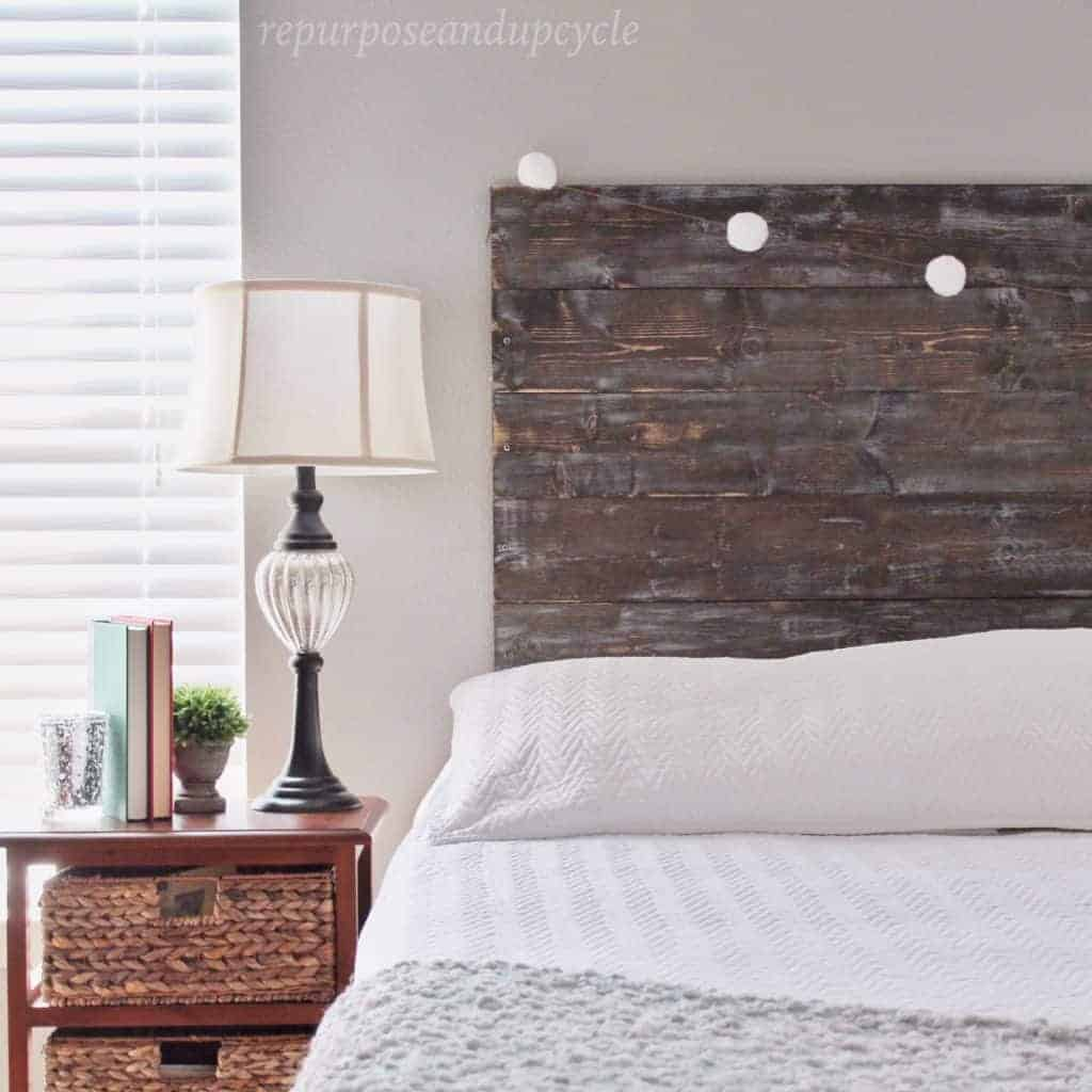 DIY Pine Board Headboard