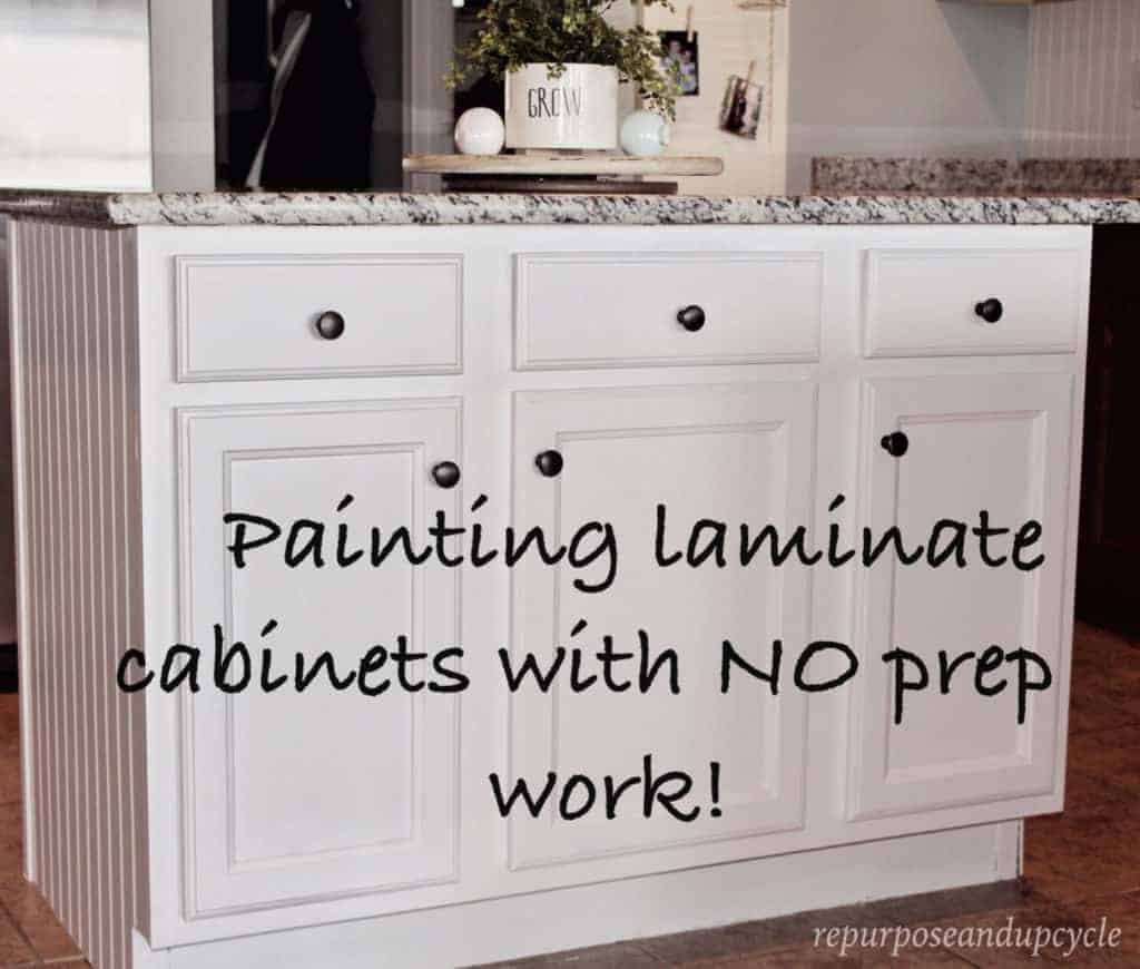 Painting Laminate Cabinets With NO Prep Work And NO Sanding