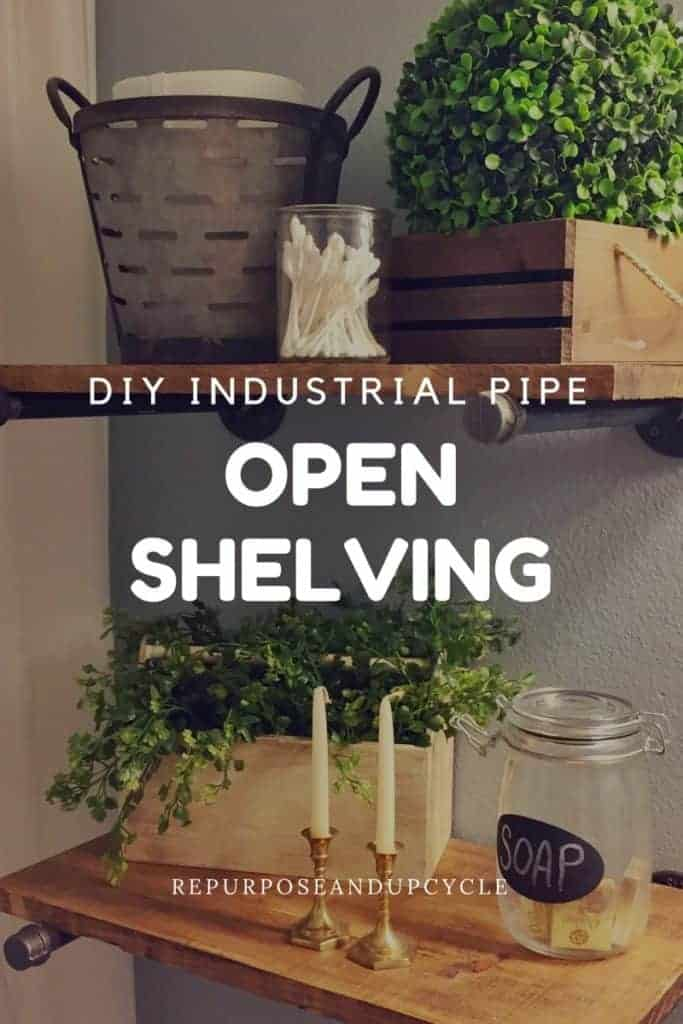 DIY Industrial Pipe Open Shelving