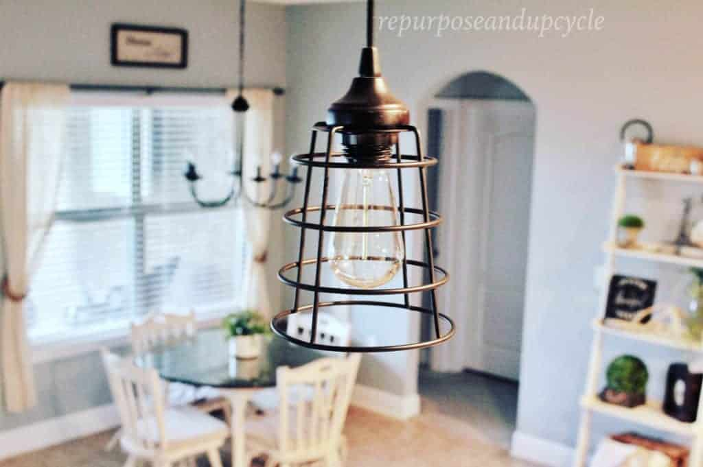 DIY Farmhouse Style pendant light