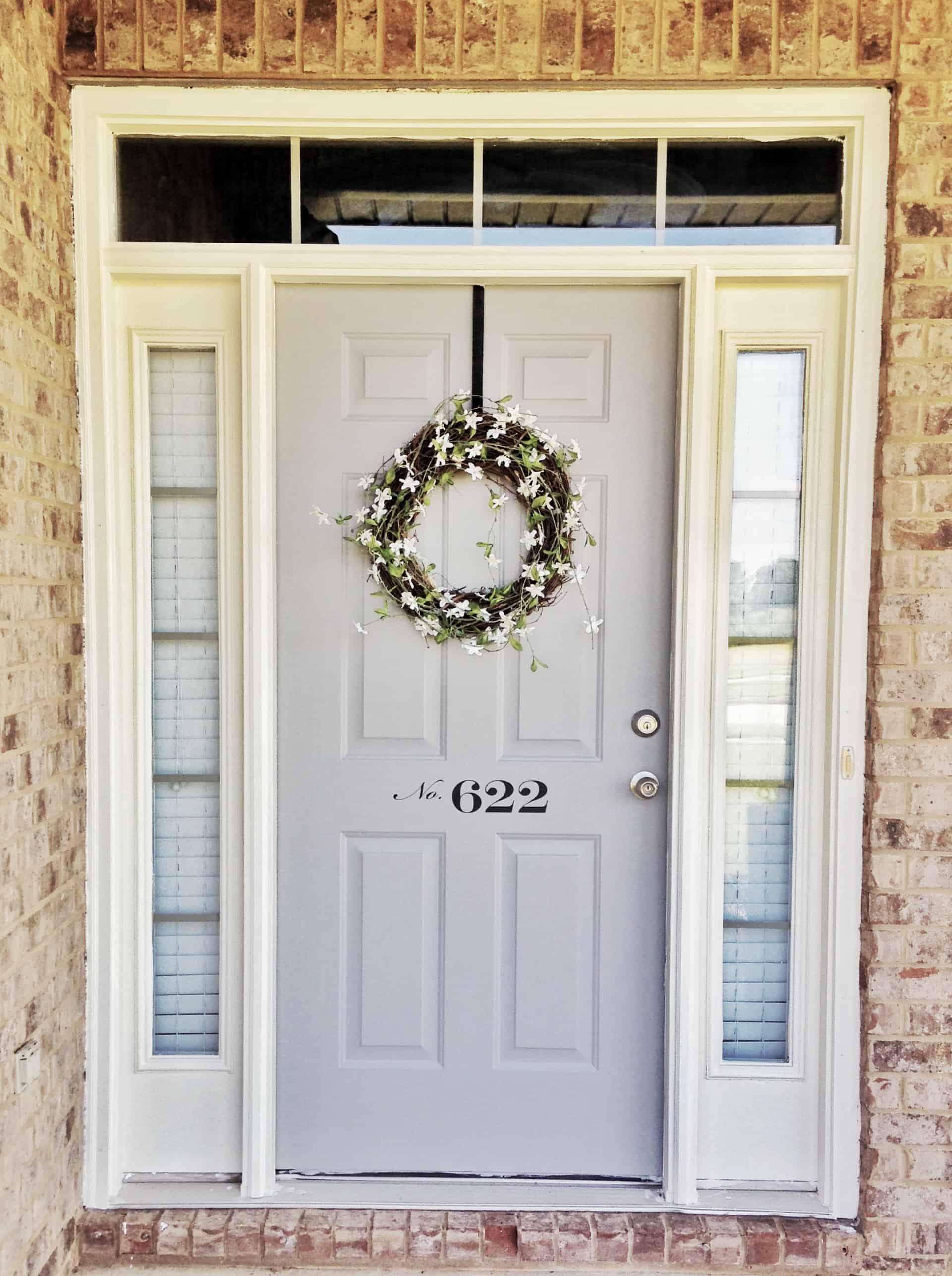 Modern Farmhose Front Door Decor