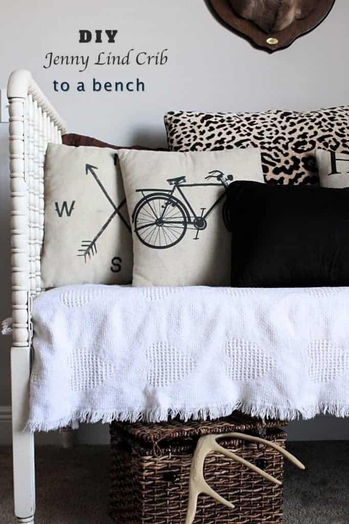 DIY Jenny Lind Crib to bench
