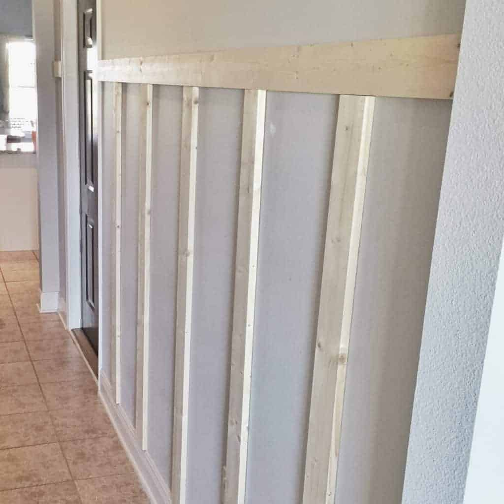 DIY Board And Batten For A Modern Farmhouse Mudroom