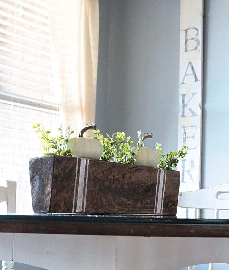 ... Decorating Vintage Style With A Sugar Mold And Grain Sack Stripes.  Sugar Mold