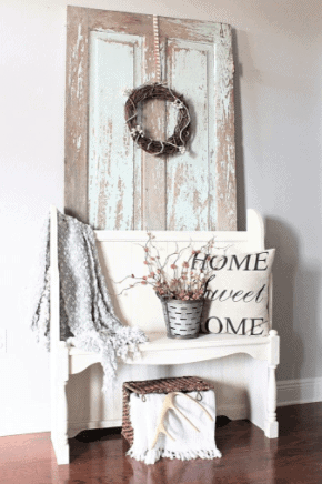 Modern Farmhouse Entryway with thrifted finds