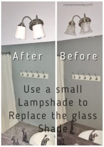 FREE bathroom light fixture update