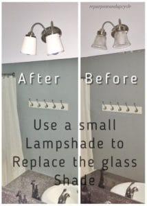 FREE bathroom light fixture update