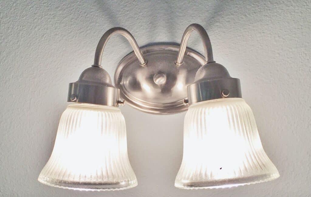 old builder grade light