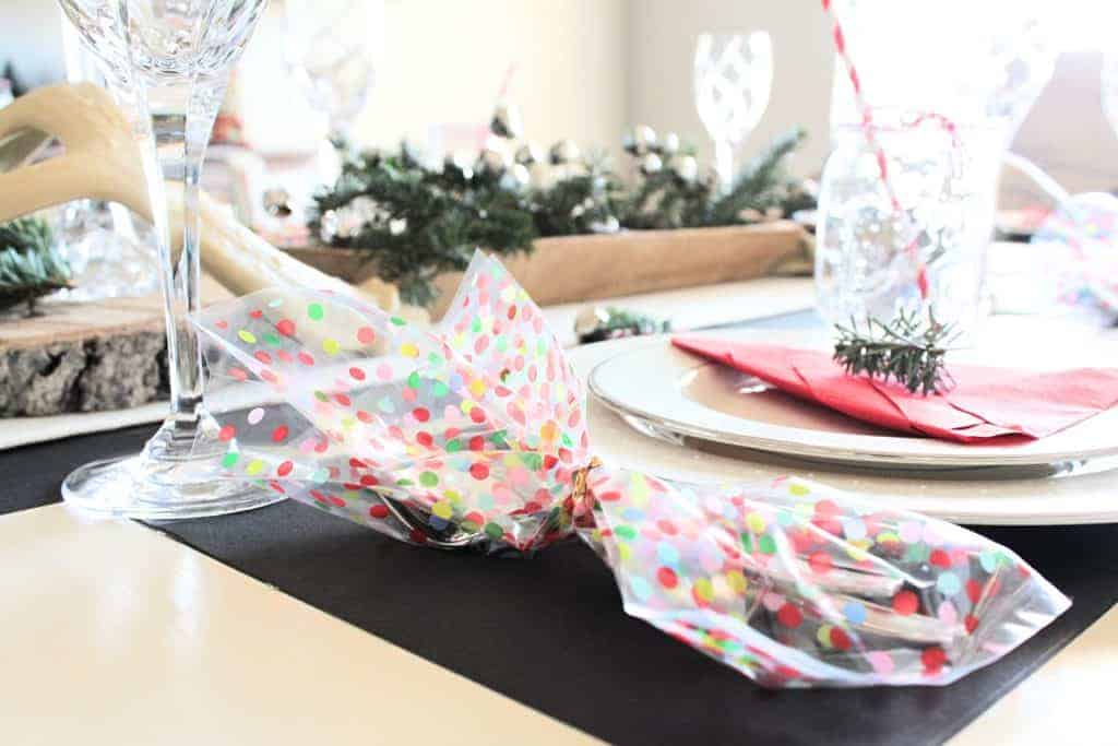 kid friendly Rustic holiday table scape