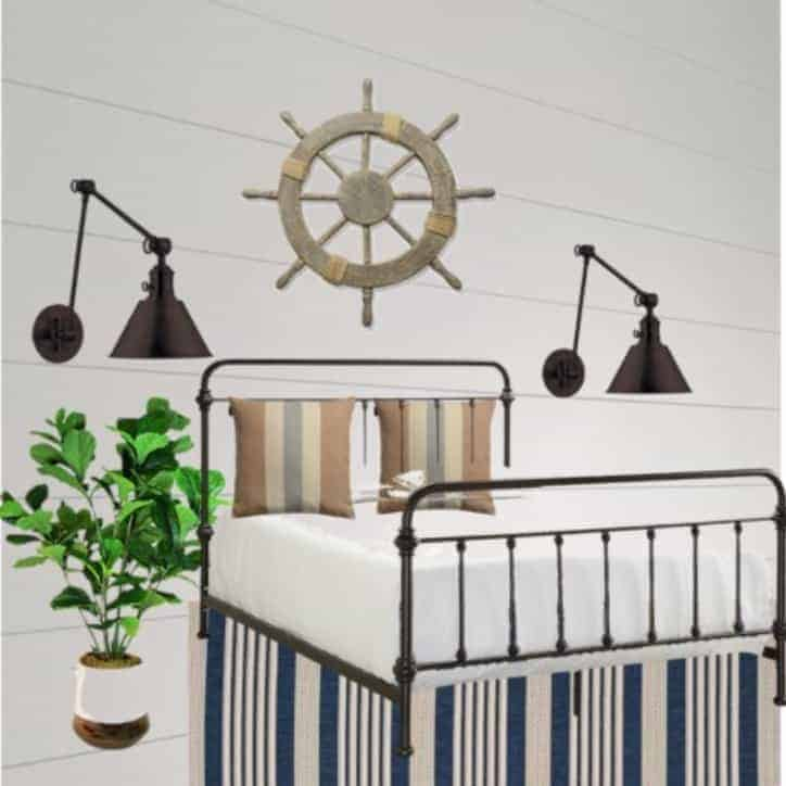 Nautical Themed Bedroom STYLE BOARD
