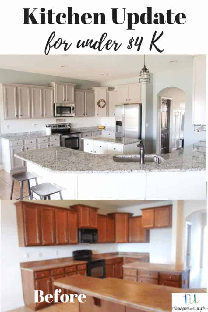 modern farmhouse kitchen update with painted cabinets