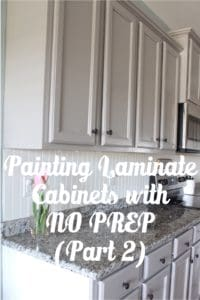 Painting Laminate Cabinets without primer