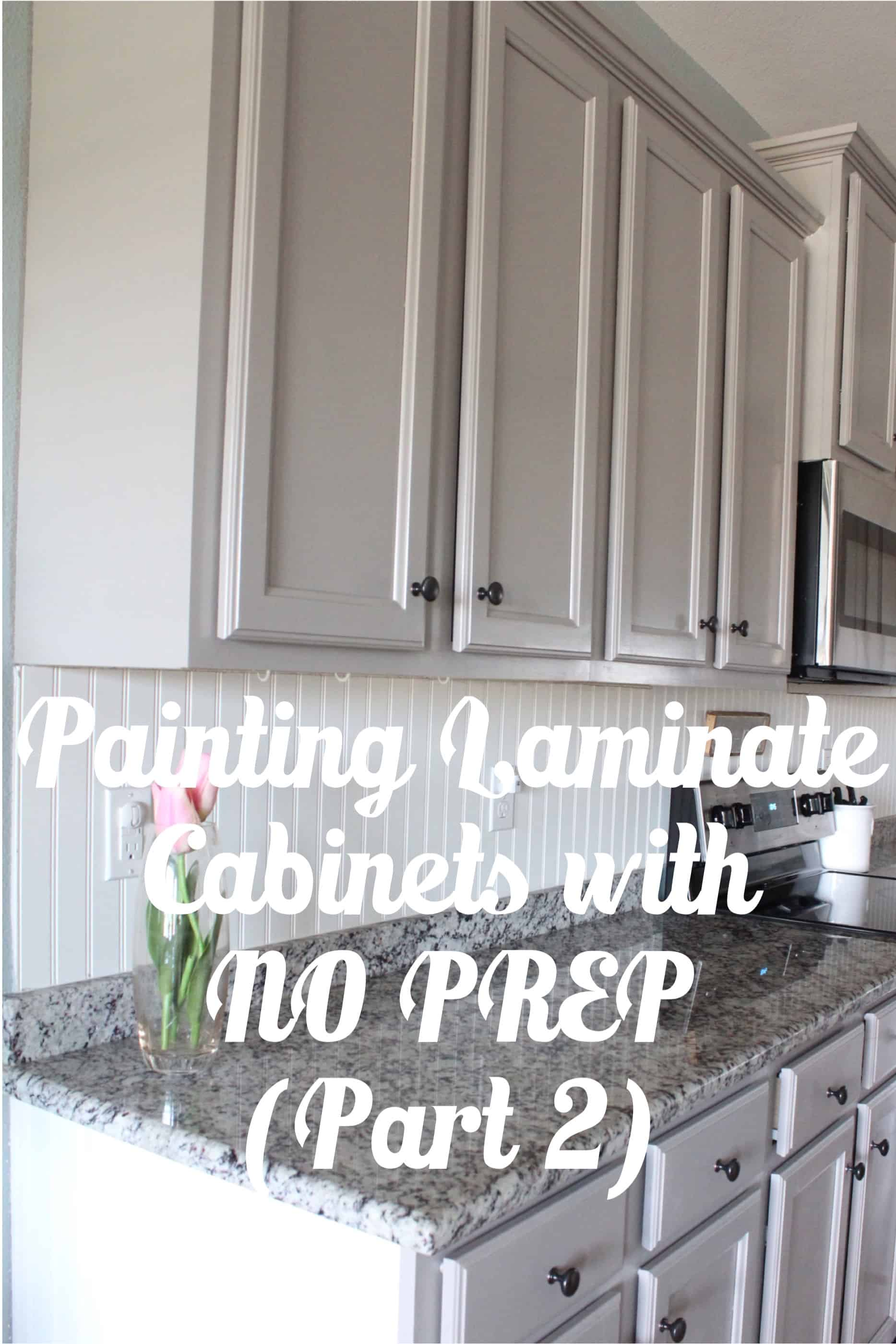 Painting Laminate Cabinets With No Prep Work Part 2
