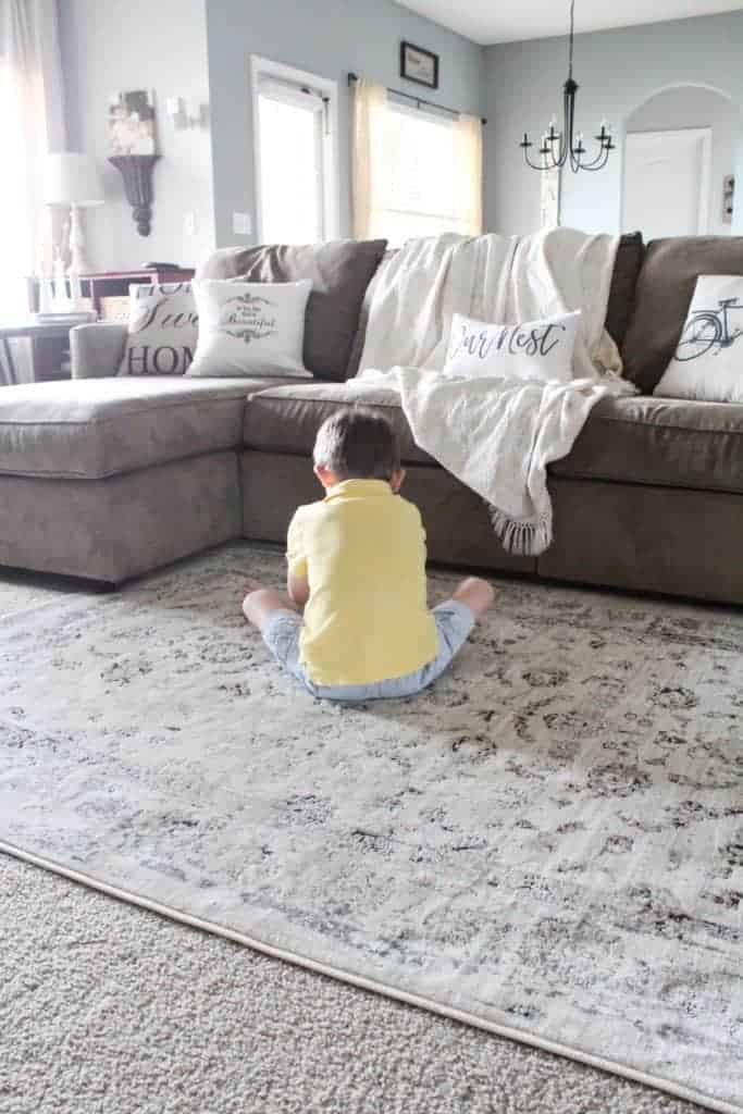 living room refresh and DIY drop cloth curtains