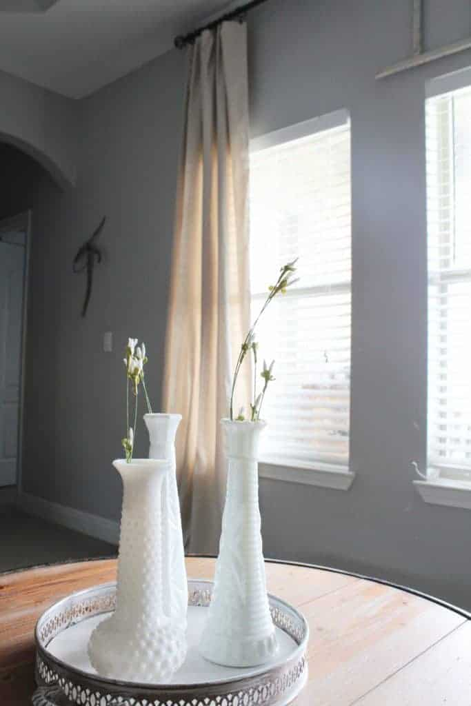 Living room refresh and DIY Drop Cloth Curtains 17