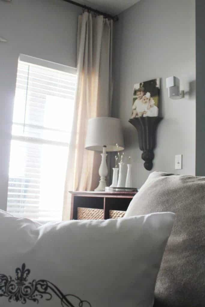 Living room refresh and DIY Drop Cloth Curtains 20