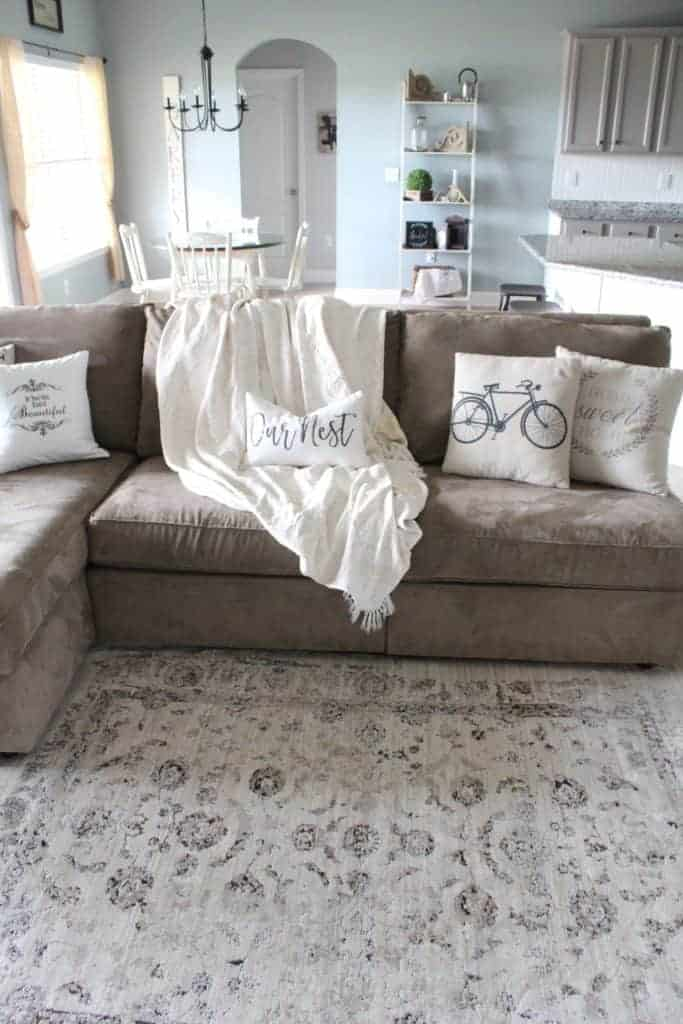 Living room refresh and DIY Drop Cloth Curtains 10