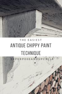 The Easiest Antique Chippy Paint Technique title