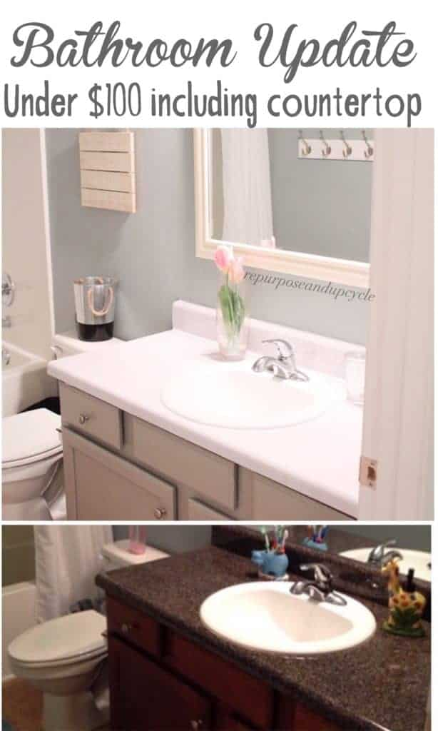 bathroom update under $100