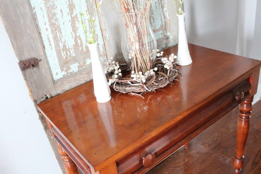 Refinishing Wood Furniture And Removing Scratches With Two Products