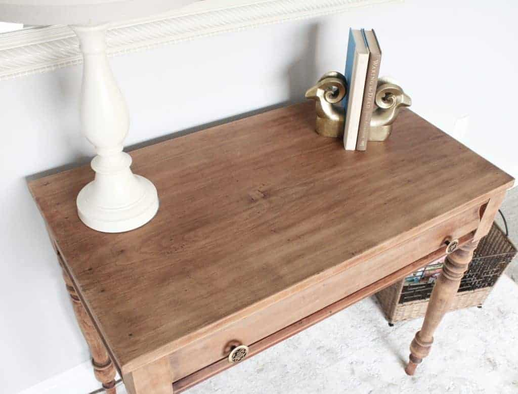 Stripped wood furniture- top view