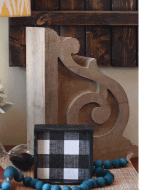 DIY Chippy Paint Corbels
