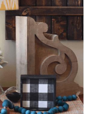 DIY Chippy Paint Corbels