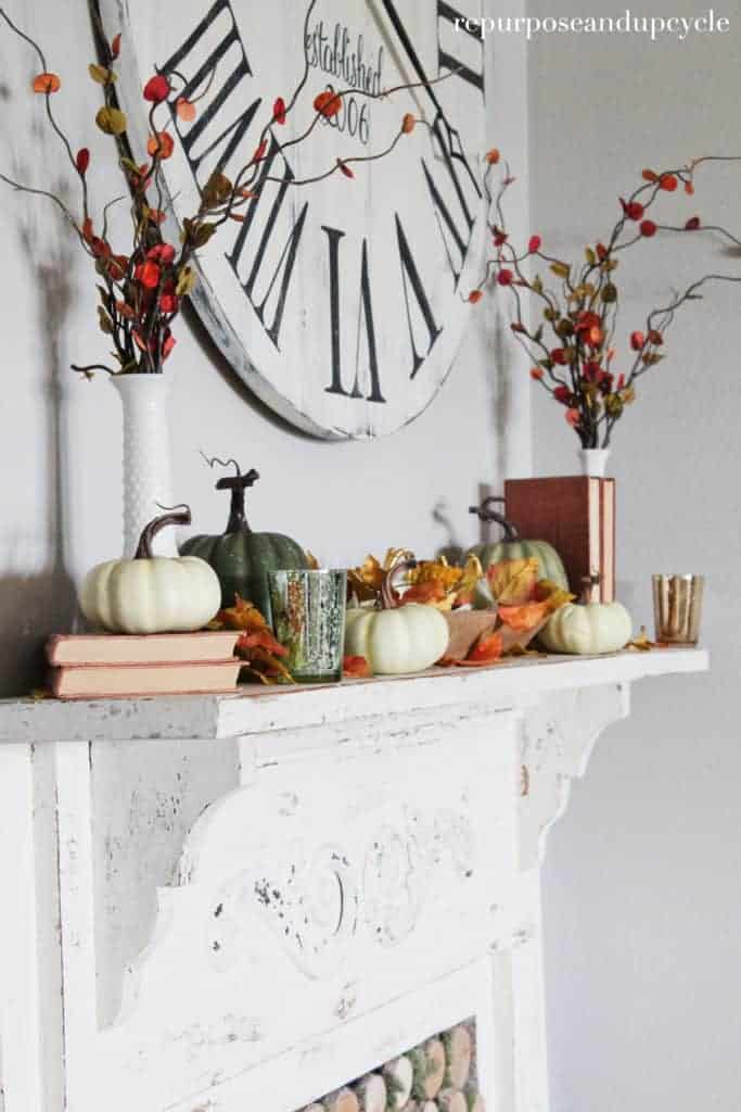 how to decorate a mantel for fall