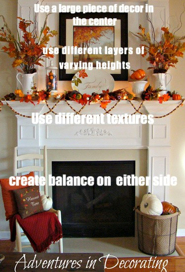 tips on how to decorate a fireplace mantel for any season