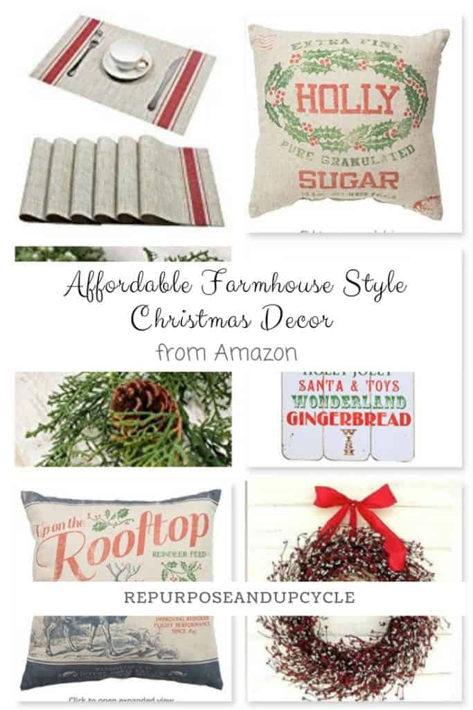 Affordable Farmhouse Style Christmas Decor from Amazon