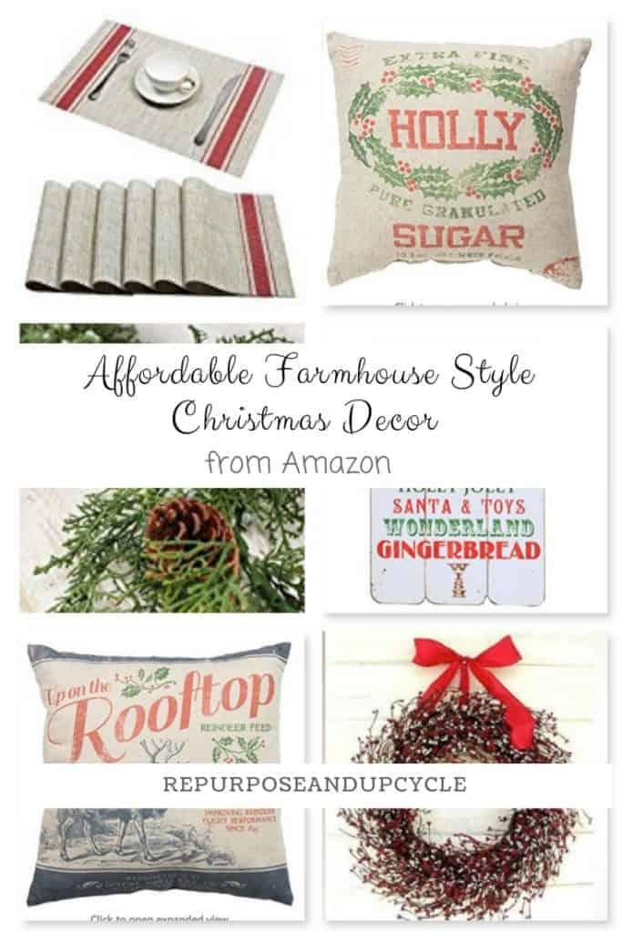 Affordable Farmhouse Style Christmas Decor from Amazon