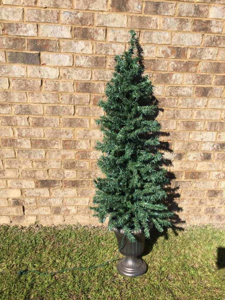 How to Flock a Christmas Tree with a Can of Ceiling Texture 1