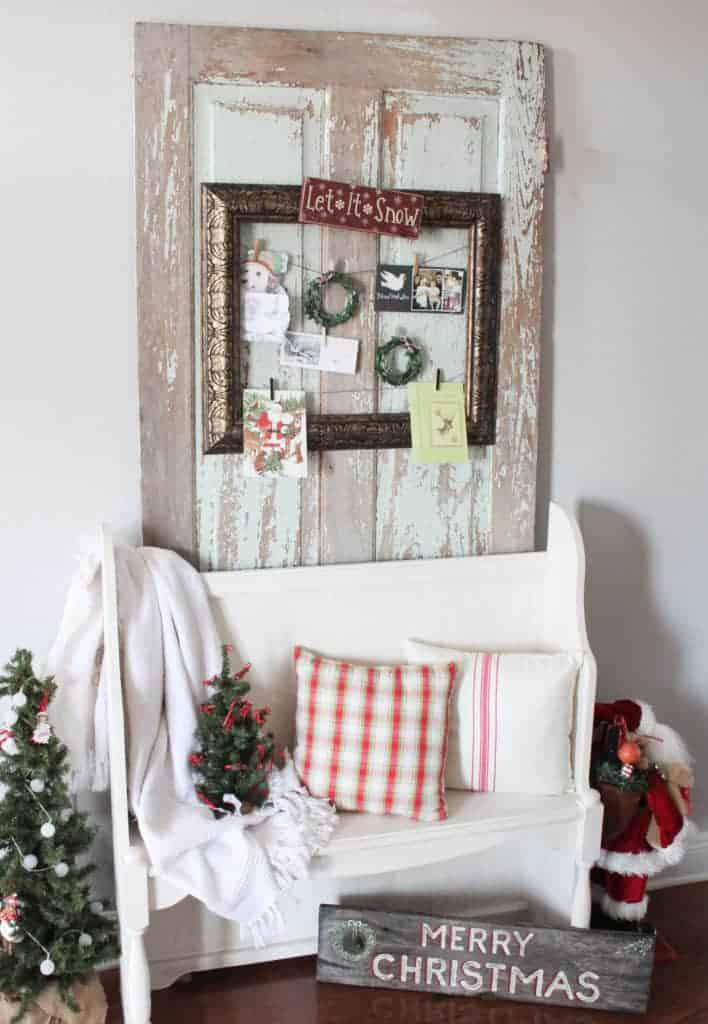 DIY holiday frame