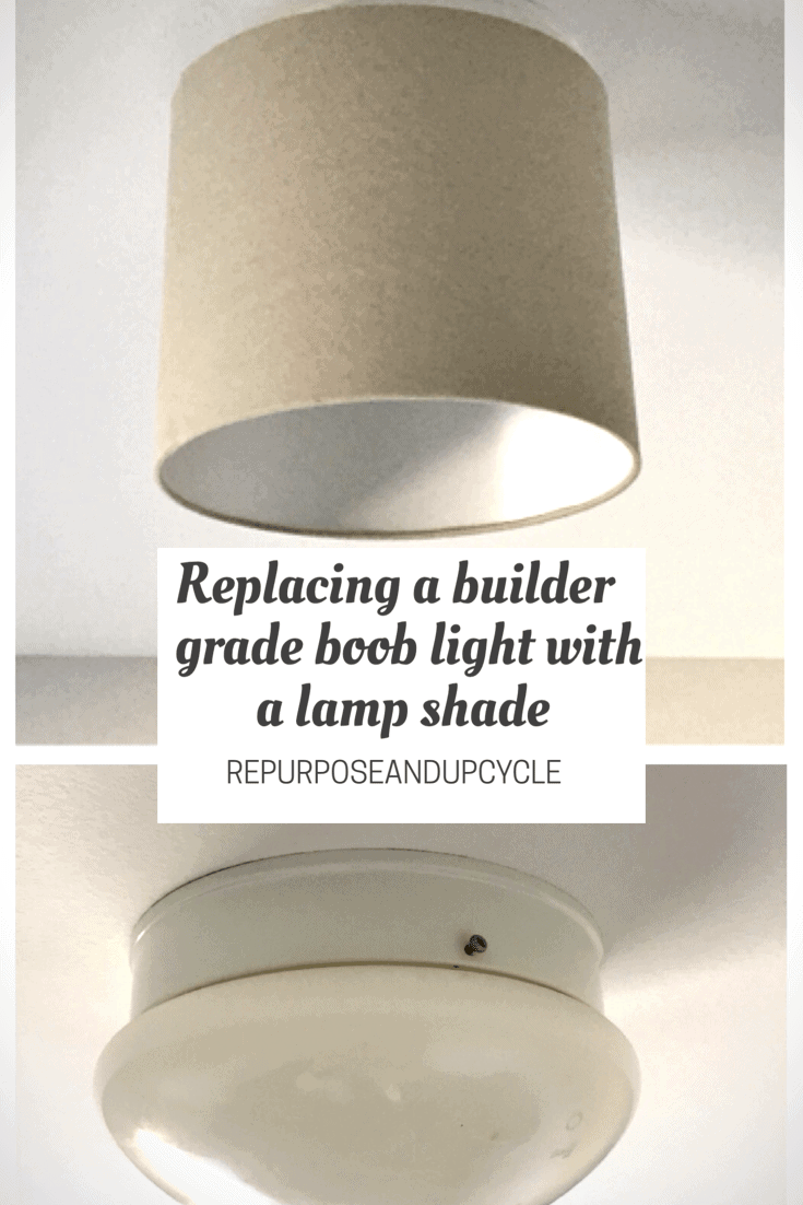 Replacing the Builder Grade Boob Light or Dome Light with a Lampshade
