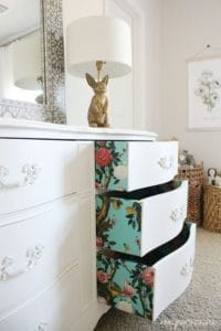 A colorful dresser makeover
