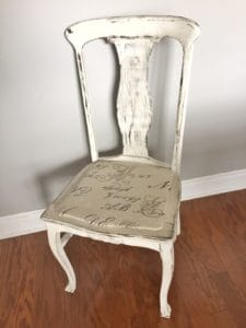 chalk painted chair
