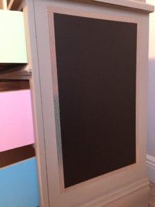 applying adhesive vinyl chalkboard paper