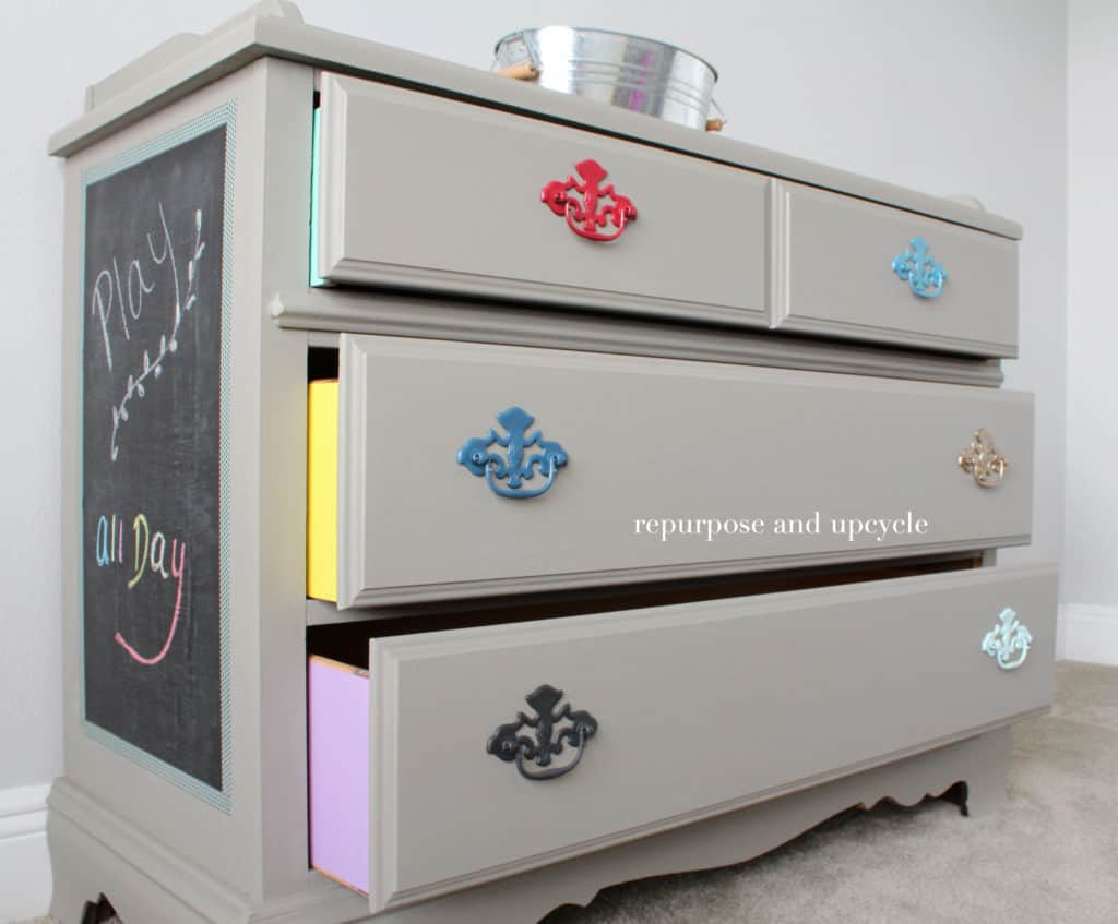 Colorful Furniture Makeover with Annie Sloan chalk paint