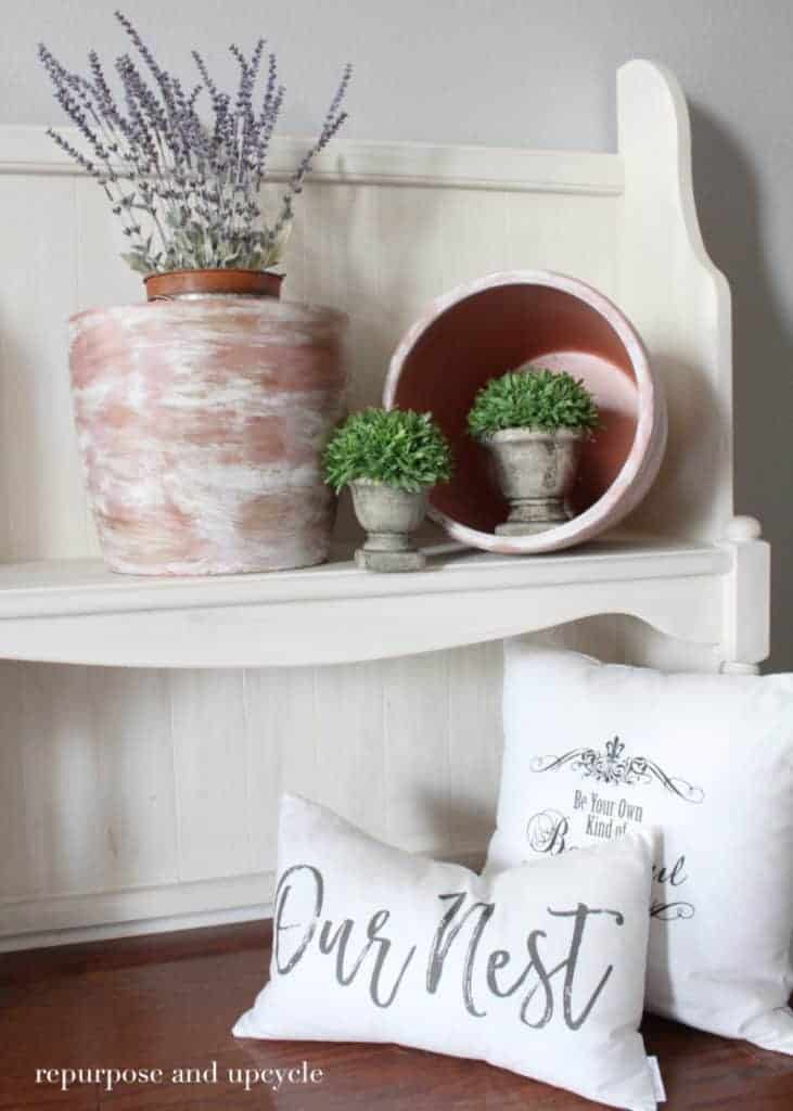 How to age a clay terra cotta pot with paint